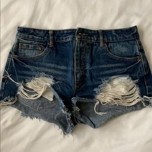 Cute High Waisted Denim Shorts